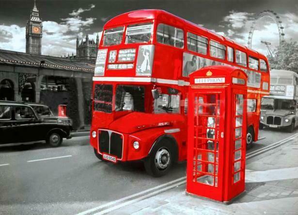 Набор алмазной вышивки (30х40см) Цветной LE096 Достопримечательности Лондона