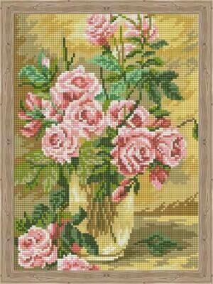 Набор алмазной вышивки (30х40см) Цветной QS200528 Розовое вдохновение