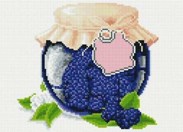 Набор алмазной вышивки (30х40см) Цветной LE054 Ежевичное варенье