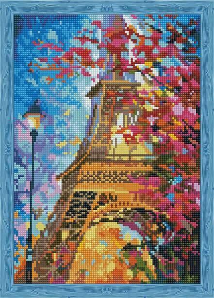 Набор алмазной вышивки (30х40см) Цветной QS200209 Весной в Париже