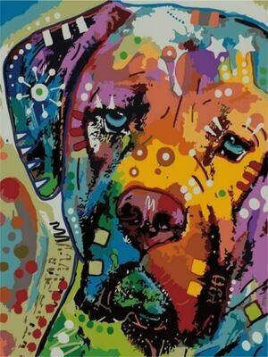Картина по номерам (30х40см) Цветной ME1009 Разноцветный пес