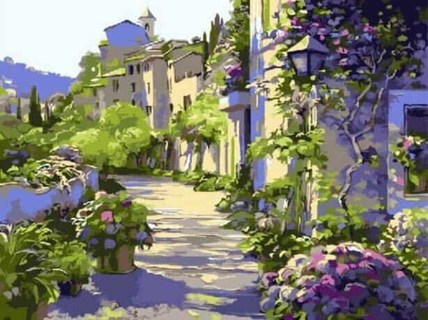 Картина по номерам (30х40см) Цветной EX5357 Бургундия