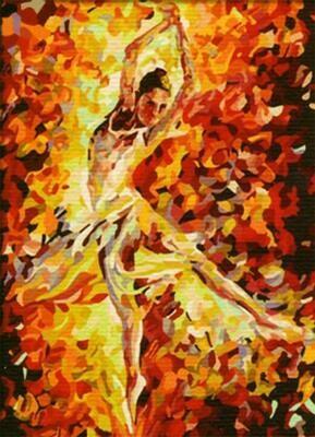 Картина по номерам (30х40см) Цветной ME042 Балерина