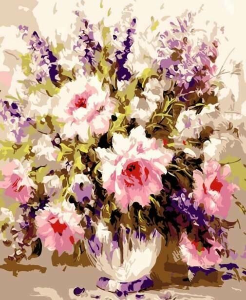 Картина по номерам (30х40см) Цветной ME1012 Воздушные розы