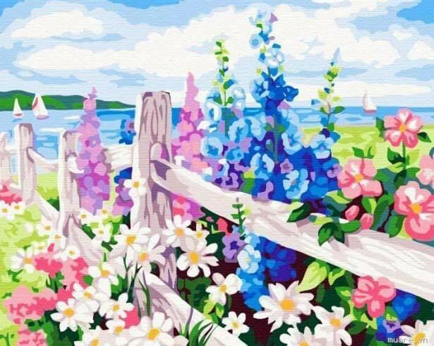Картина по номерам (30х40см) Цветной ME050 За околицей