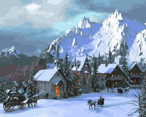 Картина по номерам (40х50см) Цветной GX30722 Снежное королевство