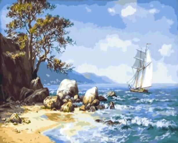 Картина по номерам (40х50см) Цветной GX9714 Ветер с моря