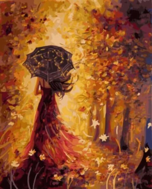 Картина по номерам (40х50см) Цветной GX5582 Осенняя фея