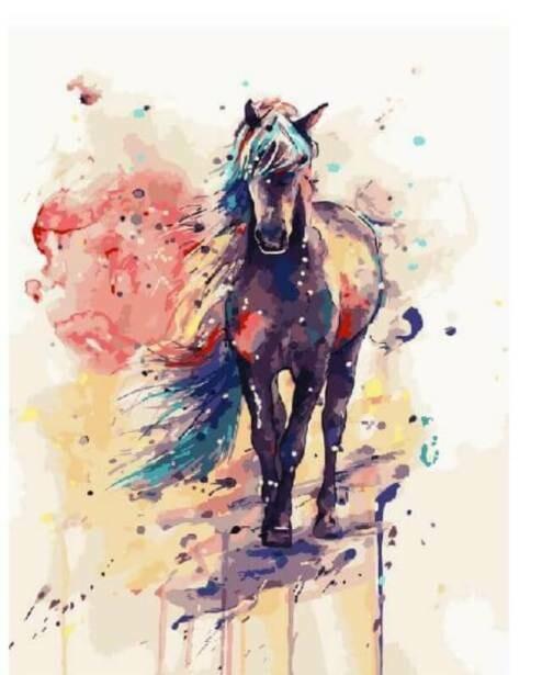 Картина по номерам (40х50см) Цветной GX3488 Волшебный конь