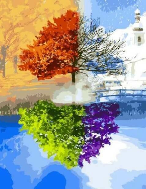 Картина по номерам (40х50см) Цветной GX3596 Сезоны