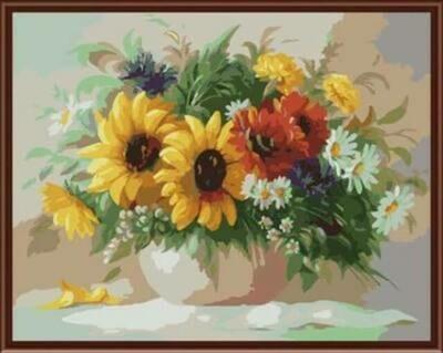 Картины по номерам(40х50см) Цветной GX6291 Садовый букет