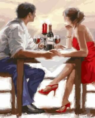 Картина по номерам (40х50см) Цветной GX8000 Закат в Валентинов день