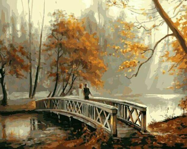 Картина по номерам (40х50см) Цветной GX8156 На мосту