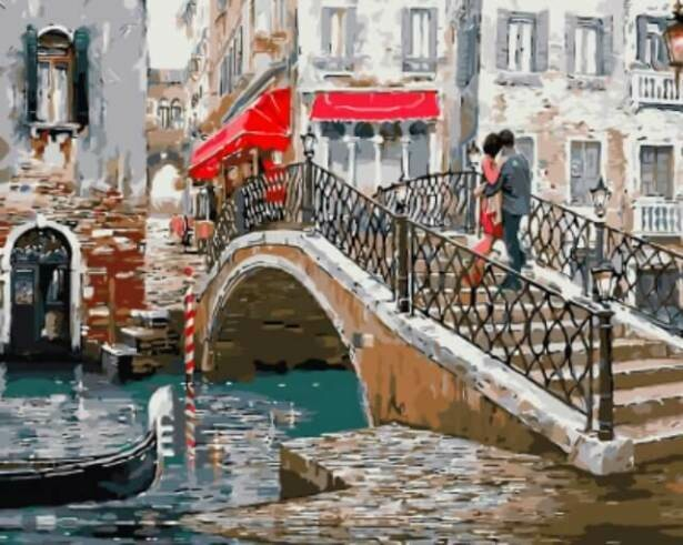 Картина по номерам (40х50см) Цветной GX8363 Венецианский мостик