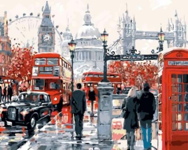 Картина по номерам (40х50см) Цветной GX8362 Лондонская суета