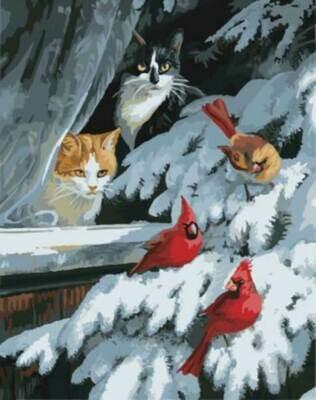 Картина по номерам (40х50см) Цветной GX8527 Наблюдатели за птицами