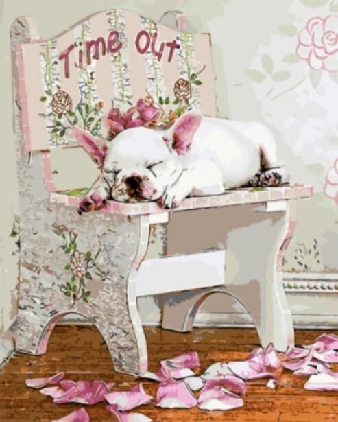 Картина по номерам (40х50см) Цветной GX8891 Тайм-аут Лизы Джейн