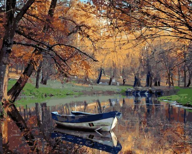 Картина по номерам (40х50см) Цветной MG20184 Осенний парк