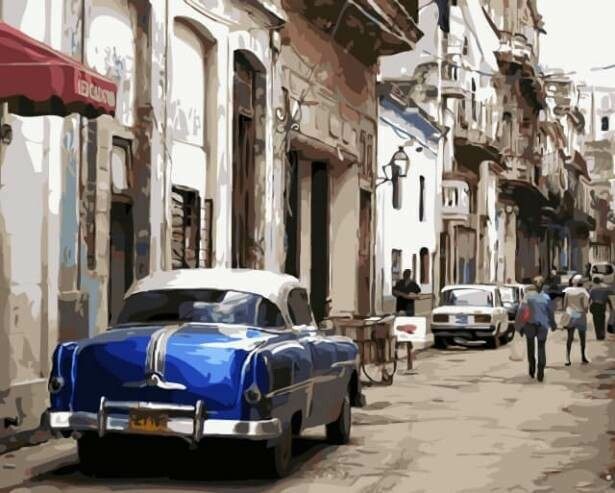 Картина по номерам (40х50см) Цветной MG2043 Старая Гавана
