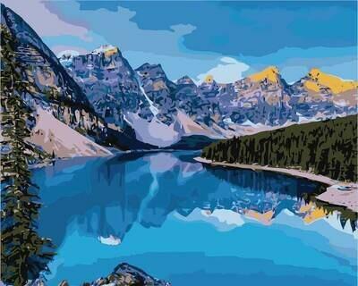 Картина по номерам (40х50см) Цветной MG2134 Горная река