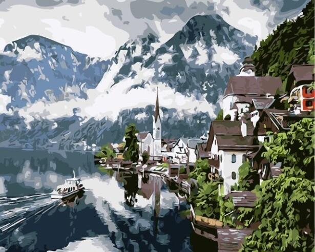 Картина по номерам (40х50см) Цветной MG6012 Туман над горами