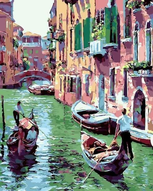 Картина по номерам (40х50см) Цветной MG6475 Венеция
