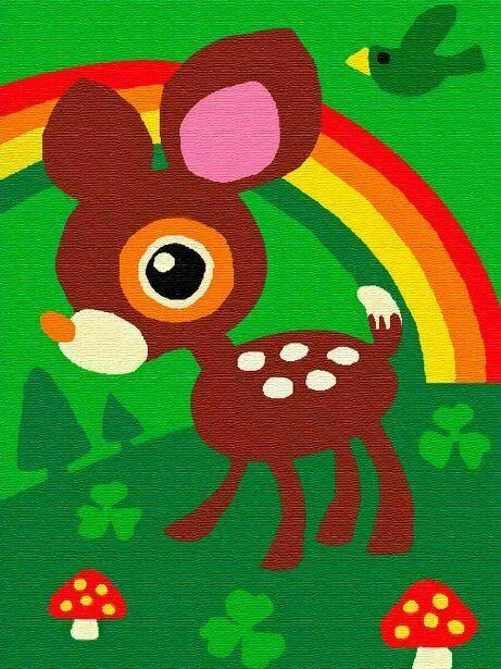 Раскраска по номерам на холсте (10x15см) ТМ Цветной PA185 Оленёнок