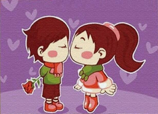 Раскраска по номерам на холсте (10x15см) ТМ Цветной PA214 Милый поцелуй