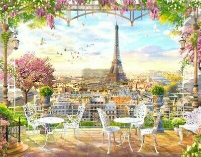 Набор алмазной вышивки (40х50см) Цветной LG039 Парижская терраса