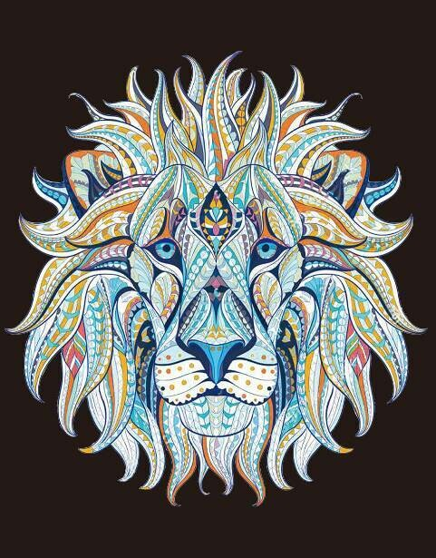 Набор алмазной вышивки (40х50см) Цветной LG213 Этнический лев