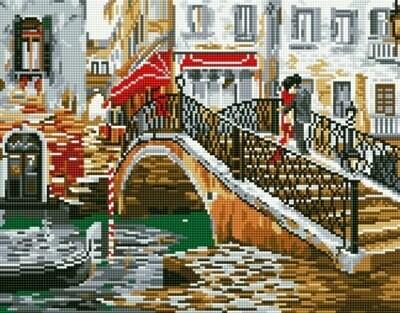 Набор алмазной вышивки (40х50см) Цветной LG041 Мост влюбленных