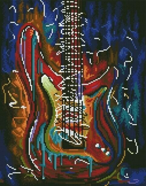 Набор алмазной вышивки (40х50см) Цветной LG078 Звуки гитары