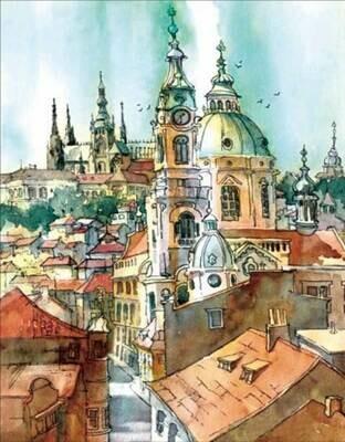 Набор алмазной вышивки (40х50см) Цветной LG063 Башни старого города