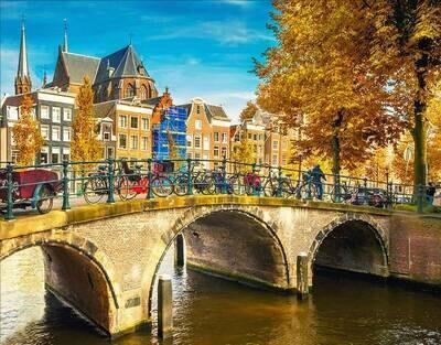 Набор алмазной вышивки (40х50см) Цветной LG195 Канал в Амстердаме
