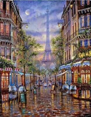 Набор алмазной вышивки (40х50см) Цветной LG062 Монмартр Париж