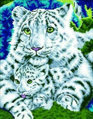 Набор алмазной вышивки (40х50см) Цветной LG019 Нежная хищница