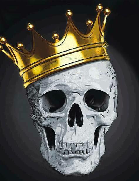 Набор алмазной вышивки (40х50см) Цветной LG232 Стильный череп