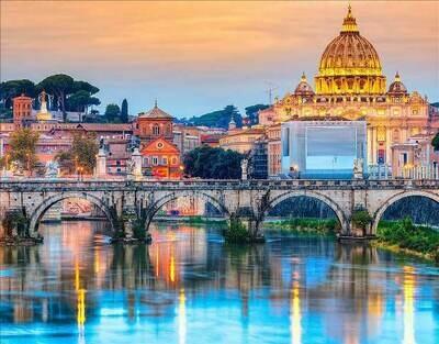 Набор алмазной вышивки (40х50см) Цветной LG193 Мост Ангелов Рим