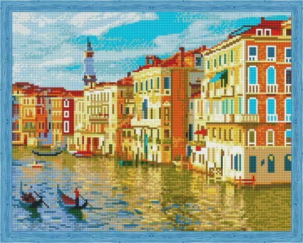Набор алмазной вышивки (40х50см) Цветной QA204019 Город на воде