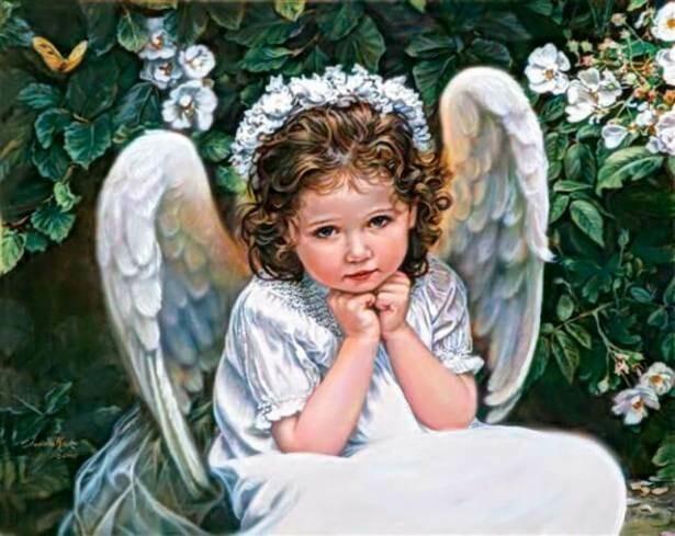 Набор алмазной вышивки (40х50см) Цветной LG098 Портрет Ангела