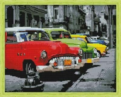 Набор алмазной вышивки (40х50см) Цветной QA202723 Автомобили ретро
