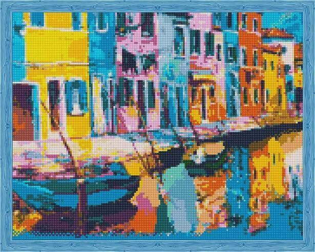 Набор алмазной вышивки (40х50см) Цветной QA204137 Радужная Венеция