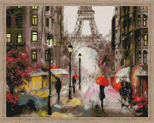 Набор алмазной вышивки (40х50см) Цветной QA204022 Романтика в Париже