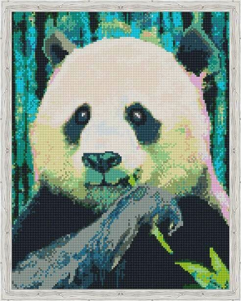 Набор алмазной вышивки (40х50см) Цветной QA204139 Панда на обеде
