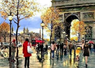 Набор алмазной вышивки (40х50см) Цветной LG113 Мой любимый Париж