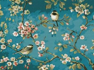 Картина по номерам (30х40см) Цветной EX5878 Яблоня в цвету
