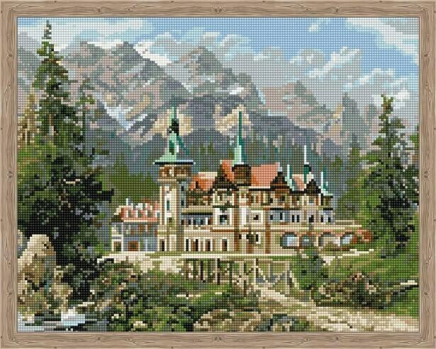 Набор алмазной вышивки (40х50см) Цветной QA202336 Замок Спящей красавицы