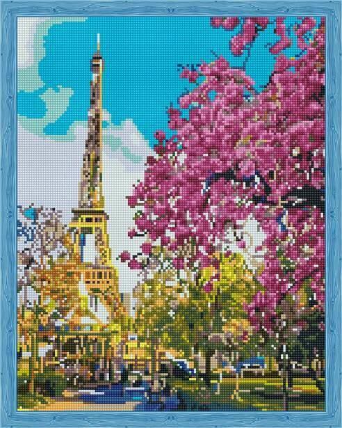 Набор алмазной вышивки (40х50см) Цветной QA201488 Парижская весна