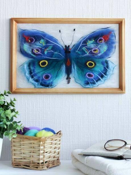Набор для валяния из шерсти картины Цветной SH033 Бабочка Артемида