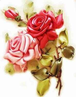 Набор для вышивки лентами (ТМ Цветной) VL007 Розы